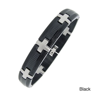 Stainless Steel Men's Plated Highlight Bracelet