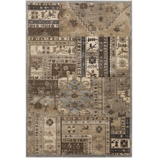 Tan Nomad Army Green Rug (5'3 x 7'6)