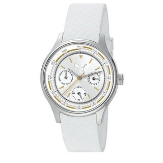 Puma Women's Motor White Rubber Quartz Watch