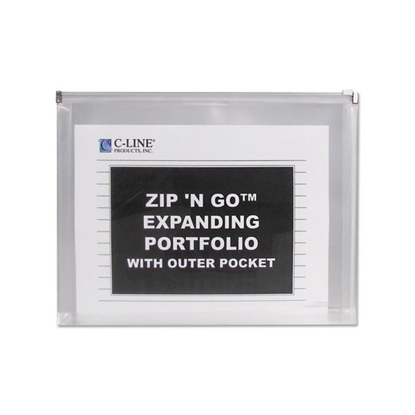 C-Line Zip 'N Go Clear Expanding Portfolio with Outer Pocket