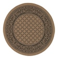 Recife Garden Lattice Cocoa/ Black Rug (8'6 x Round)