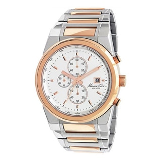 Kenneth Cole Men's Dress Sport Rose Gold/ Silver Steel Quartz Watch