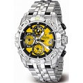 Festina Men's Yellow Dial and Silver Stainless Steel Quartz Watch