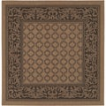 Recife Garden Lattice Cocoa/ Black Rug (7'6 x 7'6)