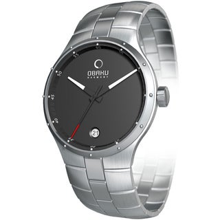 Obaku Men's V111 Grey Dial and Silver Stainless Steel Quartz Watch