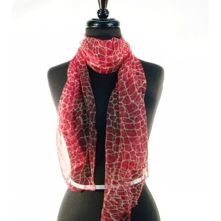 Silk Giraff Print Fashion Scarf