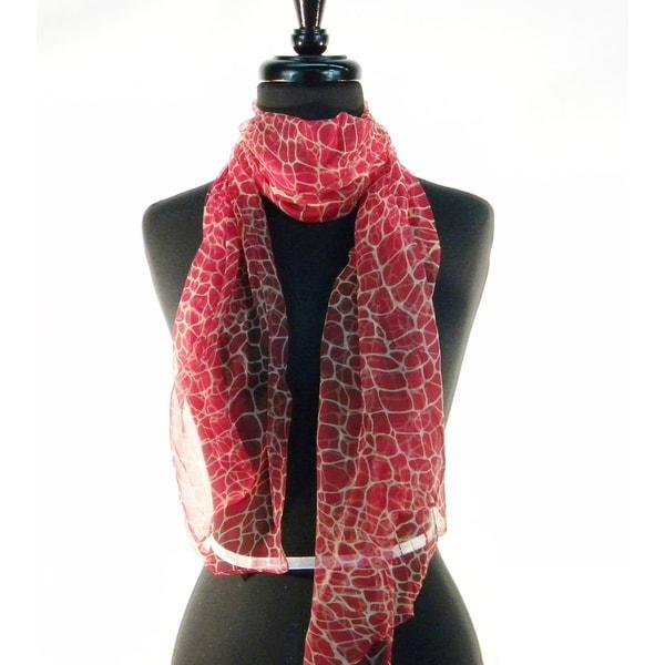 Silk Giraff Print Fashion Scarf 10621691