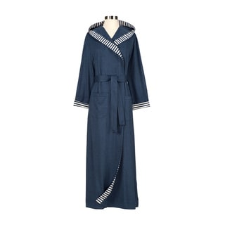Chic Organic Steel Blue Bathrobe