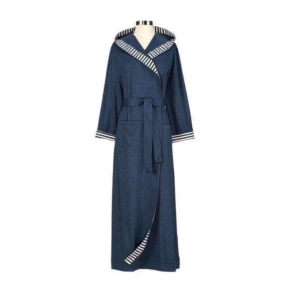 Chic Organic Steel Blue Bath Robe