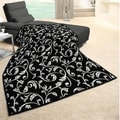 angelo:HOME Vine Woven Heather Black Throw