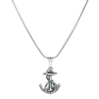 Jewelry by Dawn Fancy Anchor Sterling Silver Snake Chain Necklace