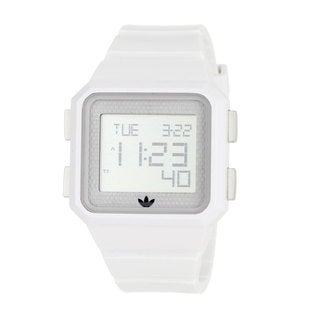 Adidas Men's 'Peachtree' White Polyurethane Digital Watch