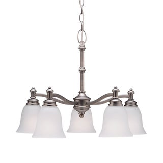 Aztec Lighting Antique Pewter 5-light Chandelier