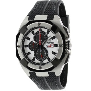Festina Men's Black Rubber Strap Quartz Watch