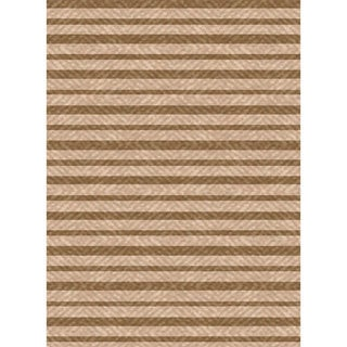 Beige/ Brown Woven Indoor Outdoor Patio Rug (7'10 X 11')