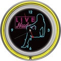 Shadow Babes D Series Clock w/ Two Neon Rings Yellow