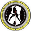 Shadow Babes C Series Clock w/ Two Neon Rings Yellow