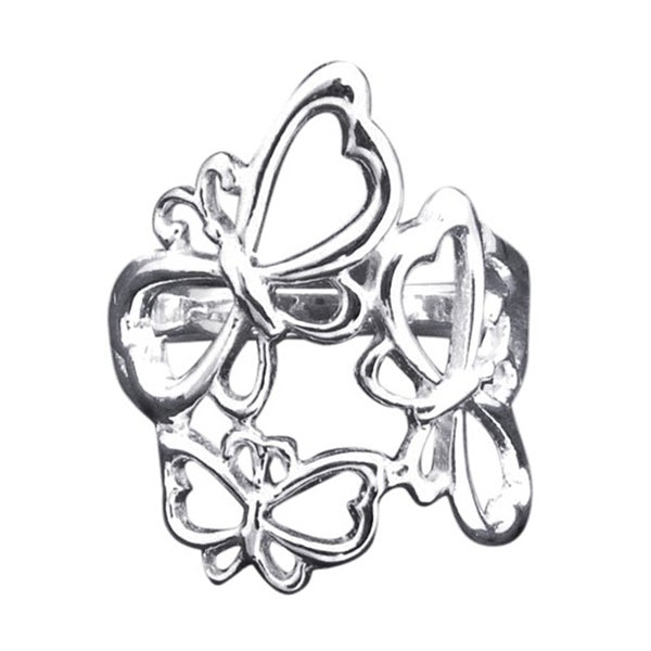 Sterling Silver Flying Butterfly Family Ring (Thailand)