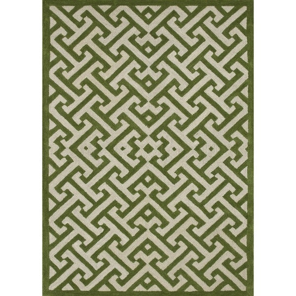 Hand-tufted Logan Lawn Wool Rug (3'6 x 5'6)