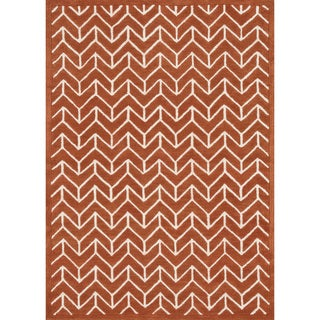 Hand-tufted Logan Tangerine Wool Rug (9'3 x 13')