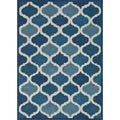 Hand-tufted Logan Cobalt Blue Wool Rug (7'10 x 11'0)