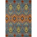 Hand-tufted Arianna Blue Wool Rug (5'0 x 7'6)