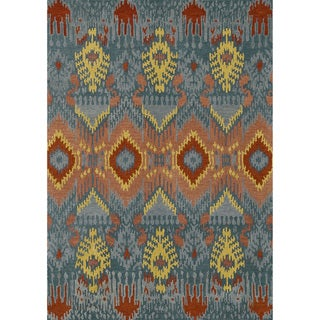 Hand-tufted Arianna Blue Wool Rug (7'10 x 11'0)