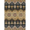 Hand-tufted Arianna Black/ Light Gold Wool Rug (5'0 x 7'6)