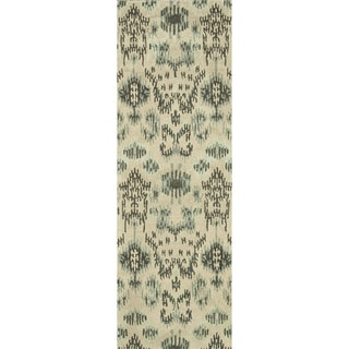 Hand-tufted Arianna Cream/ Grey Wool Rug (2'6 x 7'6)