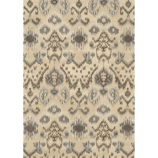 Hand-tufted Arianna Cream/ Grey Wool Rug (5'0 x 7'6)