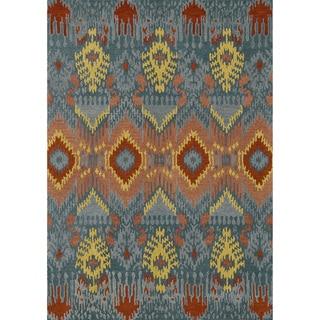 Hand-tufted Arianna Blue Wool Rug (3'6 x 5'6)