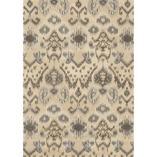 Hand-tufted Arianna Cream/ Grey Wool Rug (3'6 x 5'6)