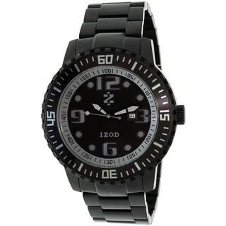Izod Men's Black Stainless Steel Quartz Watch