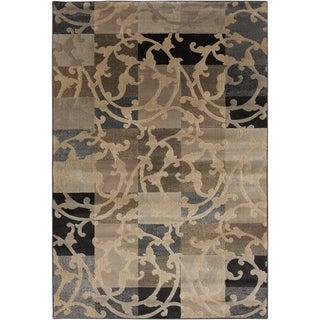 Patchwork Vines Safari Tan Rug (6'7 x 9'6)
