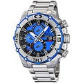 Festina Men's Tour De France Silver with Blue Dial Stainless Steel Quartz Watch