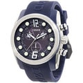 Izod Men's Blue Resin Strap Blue Dial Quartz Watch