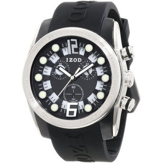 Izod Men's Black Resin Quartz Watch