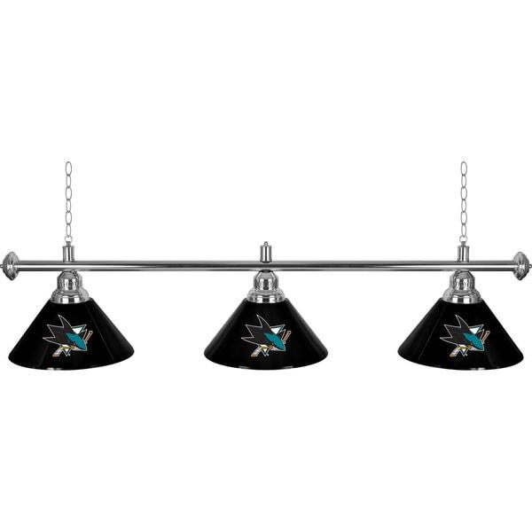 NHL San Jose Sharks 60-inch 3 Shade Billiard Lamp