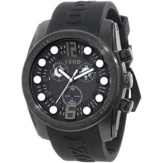 Izod Men's Black Monochromatic Resin Strap Quartz Watch