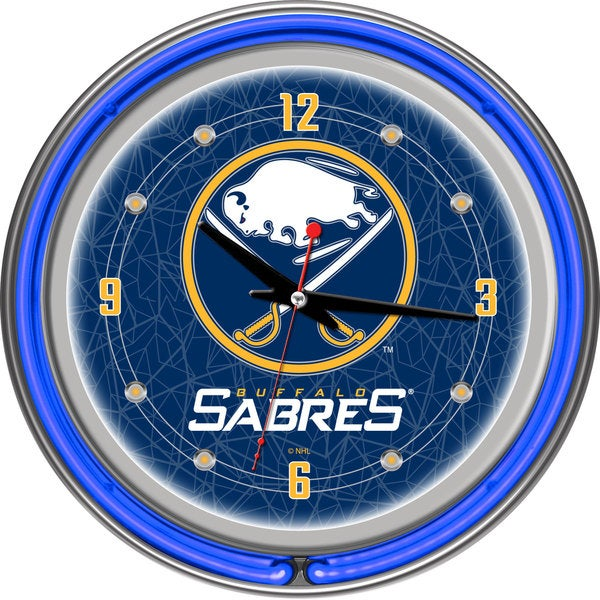 Trademark Games NHL Buffalo Sabres Neon Clock