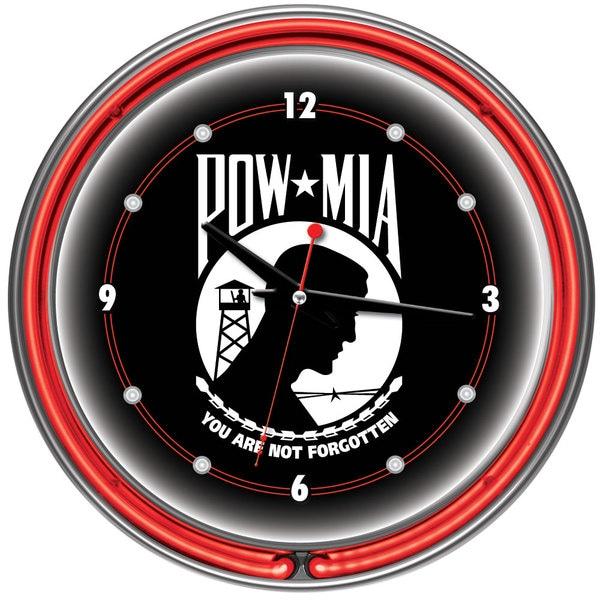 POW 14 Inch Neon Wall Clock