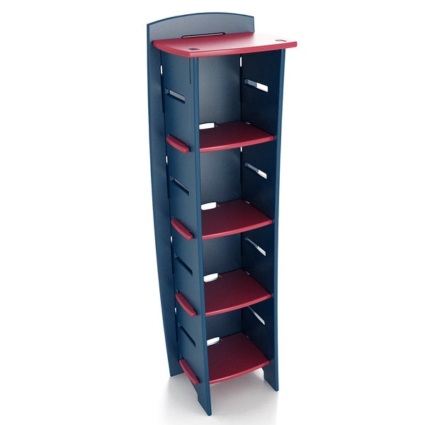 Legare Navy and Red 59-inch x 18-inch Bookcase