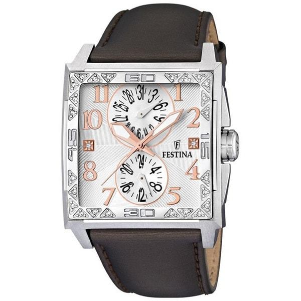 Festina Women's 'Dream' Brown Leather Quartz Silvertone Dial Watch
