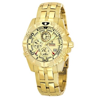 Festina Men's 'Crono' Goldtone Stainless Steel Quartz Watch