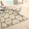 angelo:HOME Sand Color Medallion Woven Throw