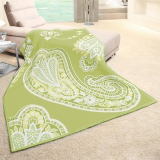 angelo:HOME Paisley Woven Lemongrass Throw