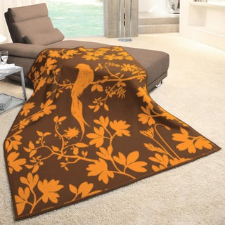 angelo:HOME Mandarin Color Aviary Woven Throw