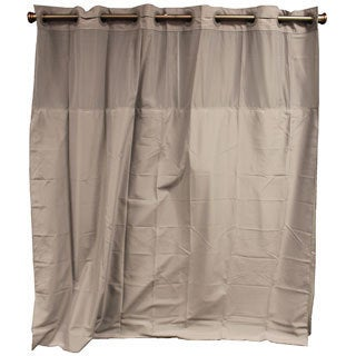 Hookless Frost Grey Shower Curtain