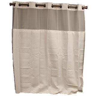 Hookless White Diamond Shower Curtain
