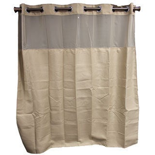 Hookless Taupe Diamond Shower Curtain